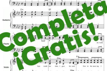 Partitura Los chicos del coro Pdf gratis online
